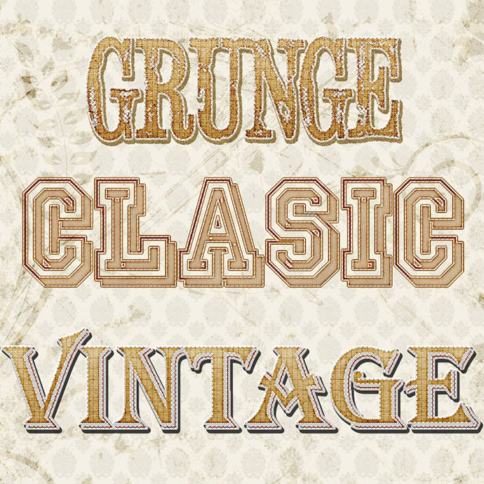 Vintage - 33+ Nice Retro Vintage Photoshop Text Effects [year]