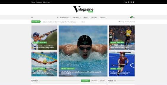 Vmagazine - 42+ Amazing Sport Magazine WordPress Themes [year]