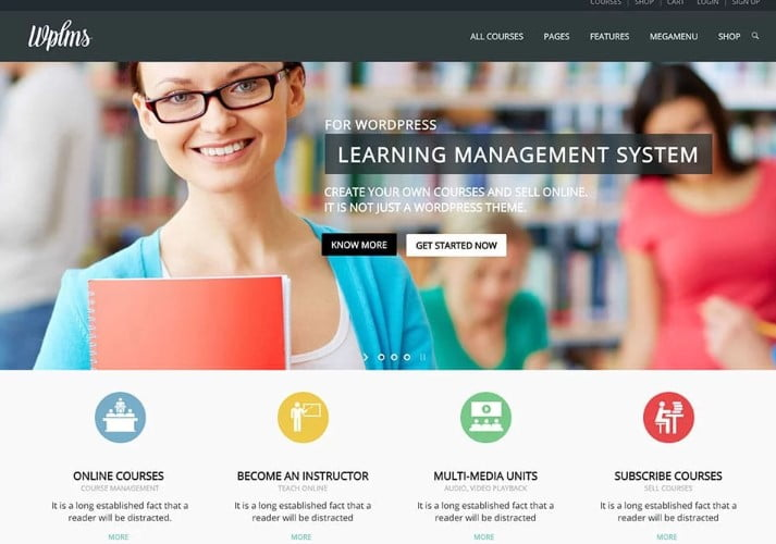 WPLMS - 35+ Impressive WordPress Online Course Themes [year]