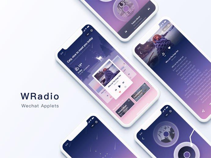 WRadio-applets - 63+ BEST Free PodCast Web & Mobile App UI Design IDEA [year]