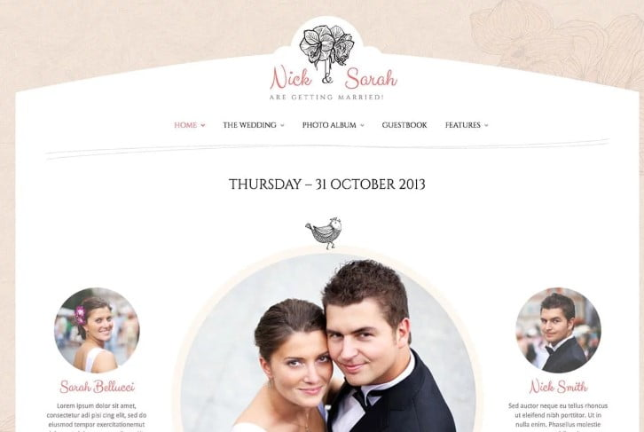 Wedding-Day - 35+ Nice WordPress Wedding Planner Themes [year]