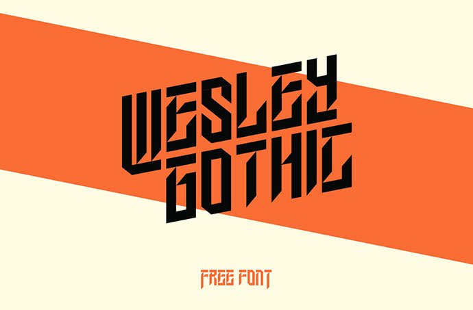 Wesley-Gothic - 28+ Excellent 100% Free Blackletter Fonts [year]