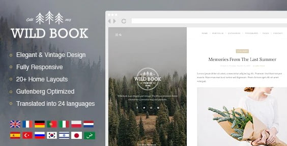 Wild-Book - 37+ Awesome Actors WordPress Themes [year]