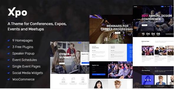 Xpo - 34+ Nice WordPress Speaker Themes [year]