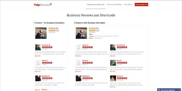 Yelp-Reviews - 28+ Important WordPress Review Plugins For Developer [year]