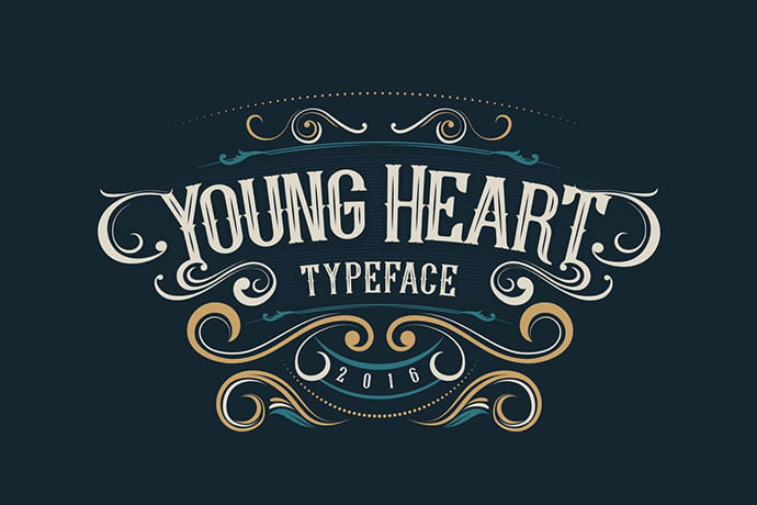 Young-Heart - 38+ Beautiful Fonts For Graphic Design [year]