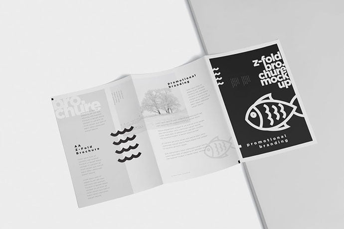 Z-Fold-Brochure-Mockup - 38+ Nice PSD Mockups for Your Amazing Projects [year]