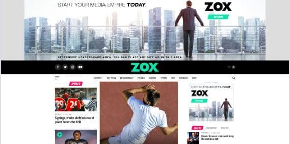 Zox-News - 42+ Amazing Sport Magazine WordPress Themes [year]