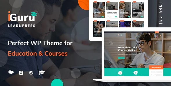 iGuru - 35+ Impressive WordPress Online Course Themes [year]