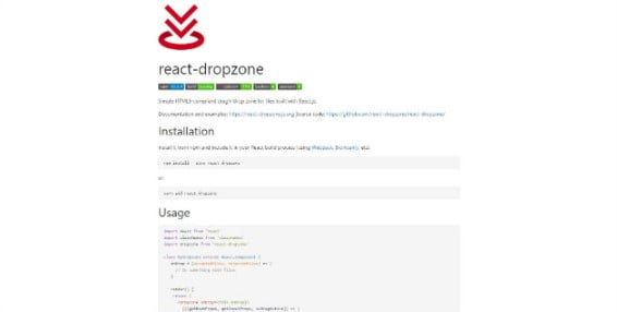 react-dropzone - 33+ Important BEST Free File Upload Script Libraries [year]