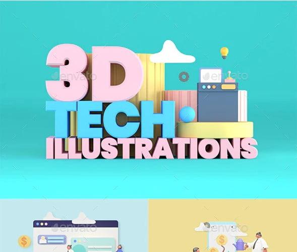 3D-Illustrations - 36+ AMAZING Free Minimal Illustrations IDEA [year]
