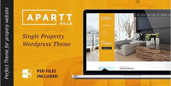 APARTT-VILLA - 35+ Stunning WordPress Single Property Themes [year]