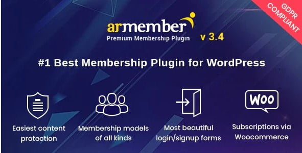 ARMember - 35+ Popular Membership Plugins For WordPress [year]