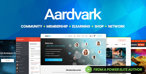 Aardvark - 35+ Responsive WordPress Community Themes [year]