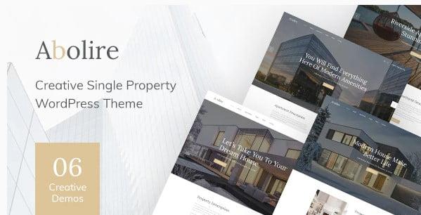 Abolire - 35+ Stunning WordPress Single Property Themes [year]