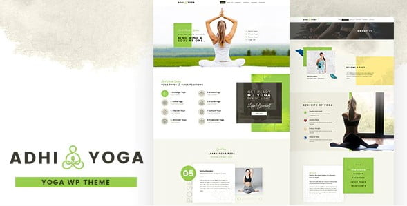Adhi-Yoga - 35+ HOT WordPress Dance Studios Themes [year]