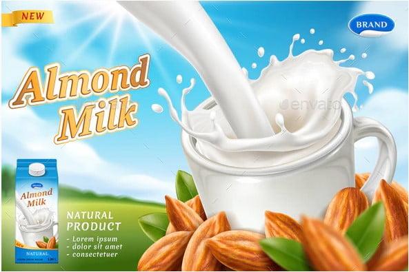 Almond-Milk - 38+ Nice Free Pattern Shapes Packaging Designs [year]