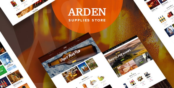 Arden - 34+ AWESOME WordPress Brewery Themes [year]