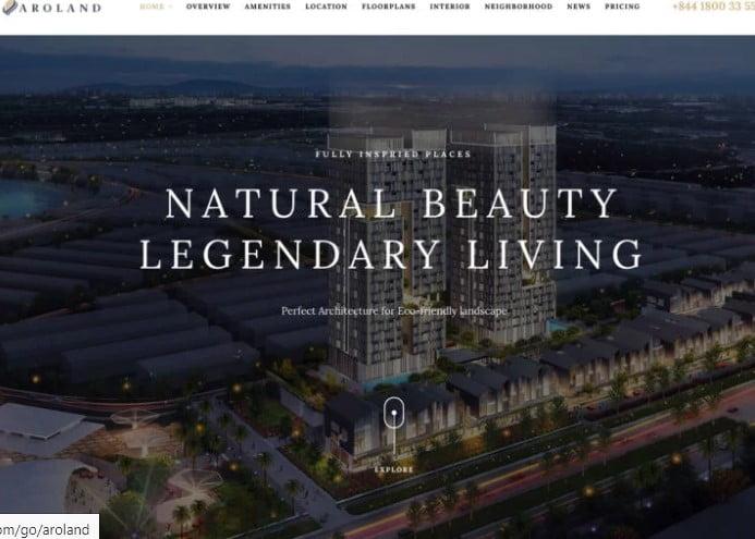 Aroland - 35+ Stunning WordPress Single Property Themes [year]