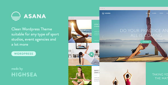Asana - 35+ HOT WordPress Dance Studios Themes [year]