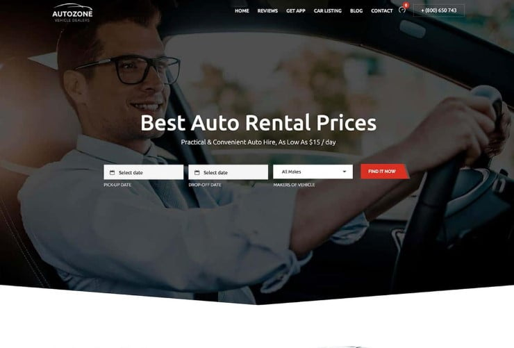 Autozone-1 - 30+ Awesome WordPress Car Rental Themes [year]