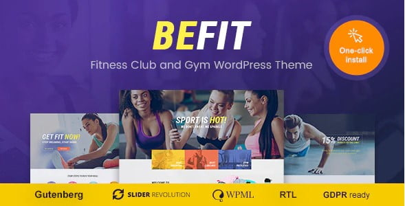 Be-Fit - 35+ HOT WordPress Dance Studios Themes [year]