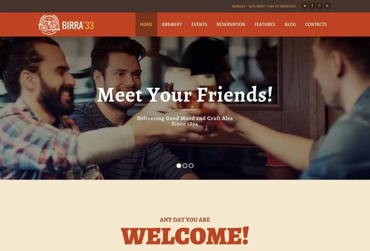 Birra33 - 34+ AWESOME WordPress Brewery Themes [year]