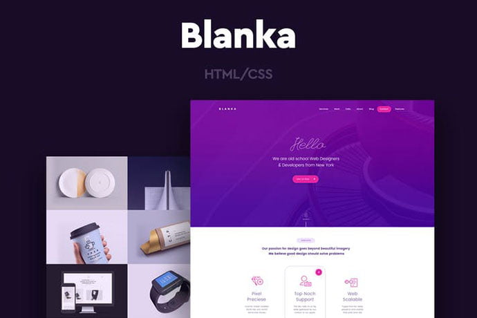 Blanka - 35+ NICE CSS HTML Website Templates [year]
