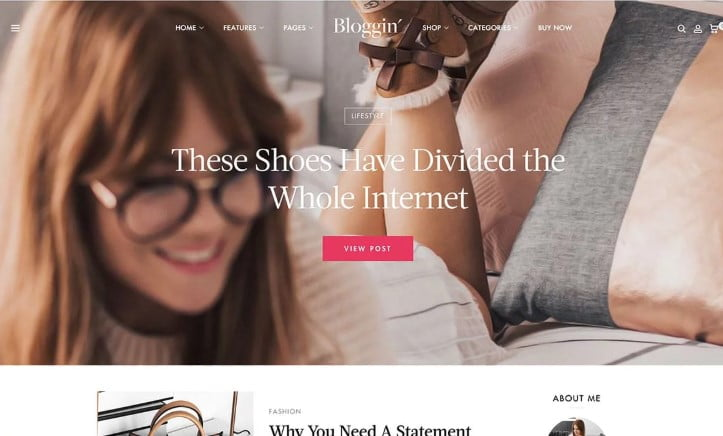 Blggn - 35+ TOP WordPress Lifestyle Themes [year]