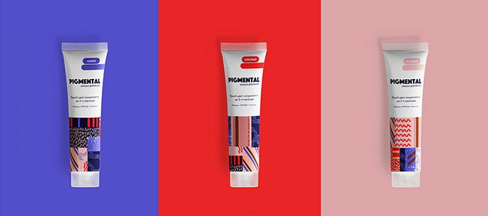 Branding-Of-Hair-Color-Studio - 38+ Nice Free Pattern Shapes Packaging Designs [year]