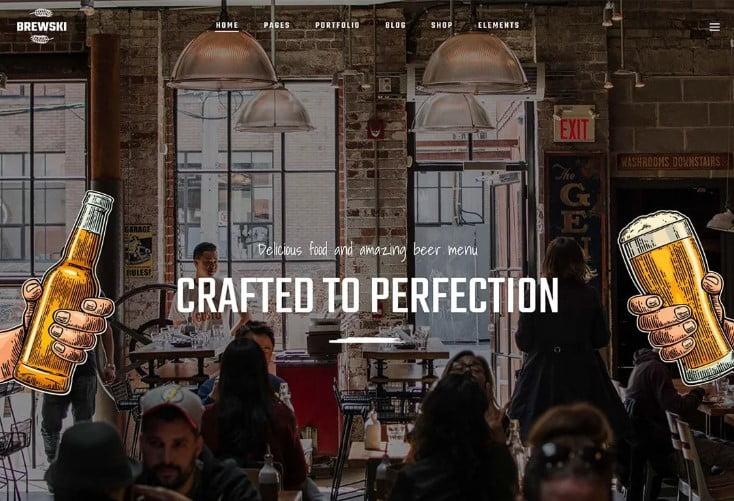 Brewski - 34+ AWESOME WordPress Brewery Themes [year]