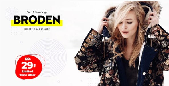 Broden - 35+ TOP WordPress Lifestyle Themes [year]