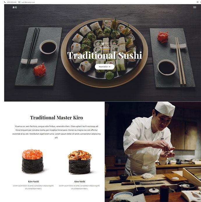Brooklyn - 34+ GREAT WordPress Restaurant Landing Page Themes [year]