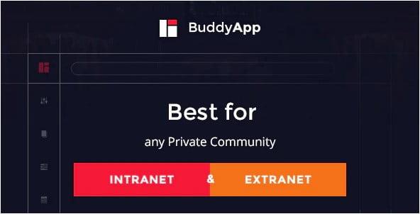 BuddyApp-1 - 30+ AWESOME WordPress Intranet Themes [year]