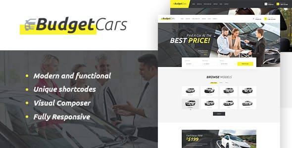 Budget-Cars - 34+ TOP Responsive WordPress Taxi Themes [year]