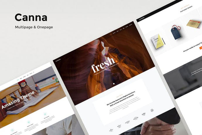 Canna - 35+ NICE CSS HTML Website Templates [year]