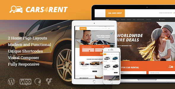 Cars4Rent - 34+ TOP Responsive WordPress Taxi Themes [year]