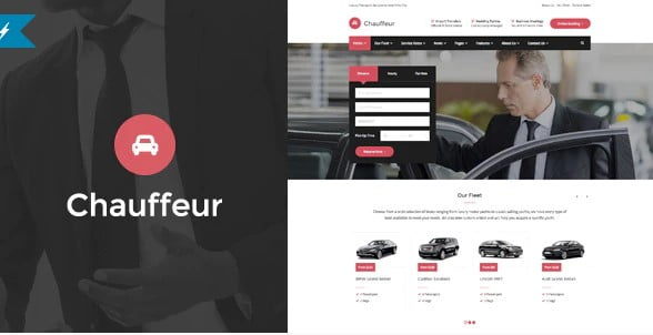 Chauffeur - 34+ TOP Responsive WordPress Taxi Themes [year]