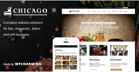 Chicago - 35+ AMAZING WordPress Bar & Pub Themes [year]