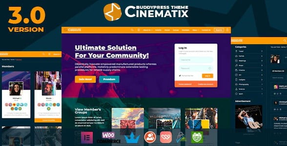 Cinematix-1 - 30+ AWESOME WordPress Intranet Themes [year]