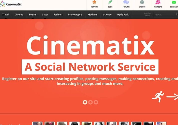Cinematix - 35+ Responsive WordPress Community Themes [year]
