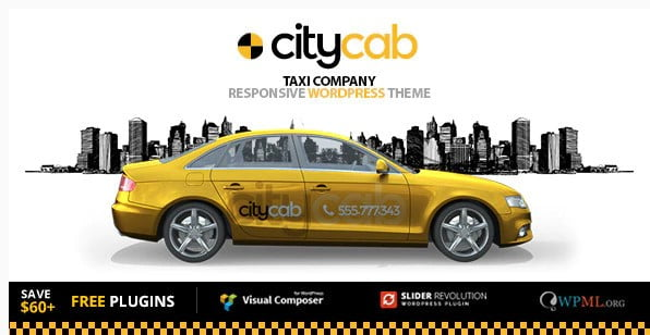 CityCab - 34+ TOP Responsive WordPress Taxi Themes [year]