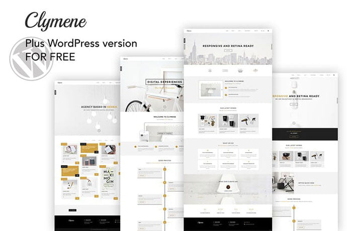 Clymene - 35+ NICE CSS HTML Website Templates [year]