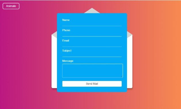 Contact-Us - 43+ BEST Free CSS Form Animations & Designs [year]