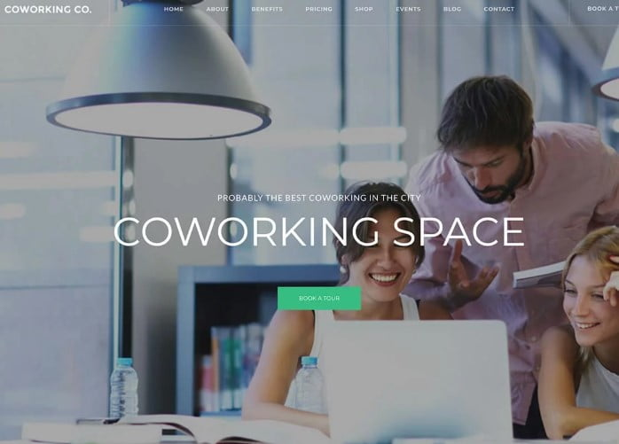 Coworking-Co - 35+ TOP WordPress Coworking Space Themes [year]