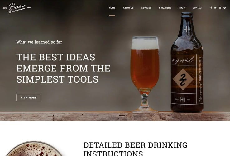 Craft-Beer - 34+ AWESOME WordPress Brewery Themes [year]
