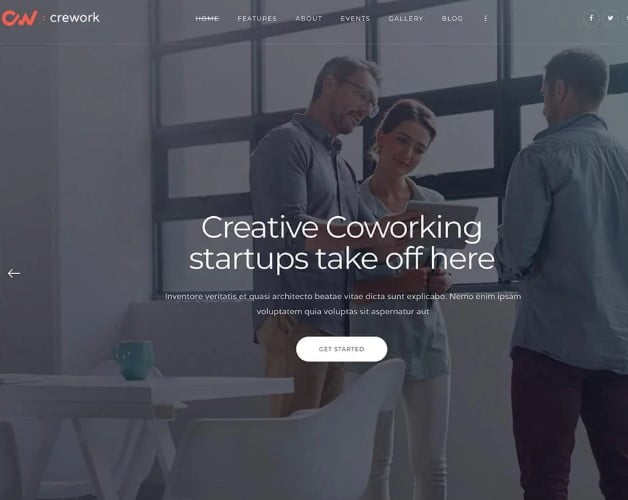 Crework - 35+ TOP WordPress Coworking Space Themes [year]