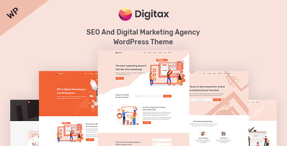 Digitax - 36+ Amazing WordPress SEO Agency Themes [year]