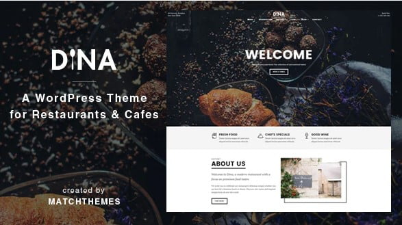 Dina - 35+ AMAZING WordPress Bar & Pub Themes [year]