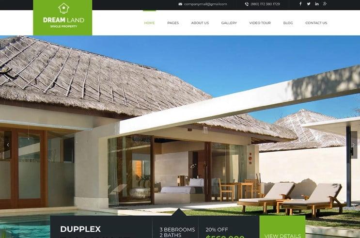Dream-Land - 35+ Stunning WordPress Single Property Themes [year]